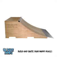 Quarter Pipe Skate Ramp 2 Ft High X 8 Ft Wide