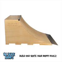 3 Ft High X 4 Ft Wide Quarter Pipe Skate Ramp