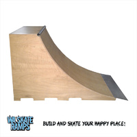 Quarter Pipe Skate Ramp 4 Ft High X 8 Ft Wide