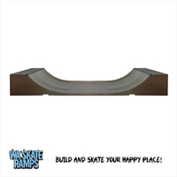 Standard Outdoor 2 ft high x 4 ft wide Mini Ramp / Half Pipe Skate Ramp