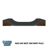 Extreme Outdoor 2 ft high x 6 ft wide Mini Ramp / Weather Proof Half Pipe