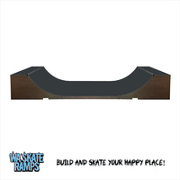 Extreme Outdoor 3 ft high x 4 ft wide Mini Ramp / Half Pipe Skate Ramp