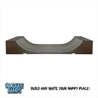 Standard Outdoor 3 ft high x 6 ft wide Mini Ramp / Half Pipe Skate Ramp