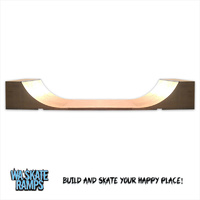 Standard Outdoor 4 ft high x 16 ft wide Mini Ramp / Half Pipe Skate Ramp