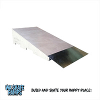 Wedge Ramp 2 Ft Wide Skateboard Jump Ramp