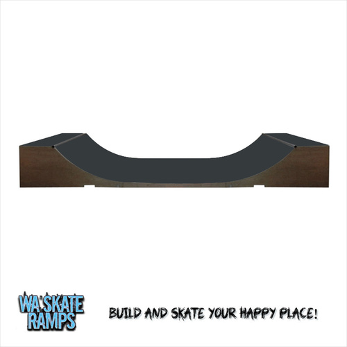 Extreme Outdoor 2 ft high x 4 ft wide Mini Ramp / Weather Proof Half Pipe